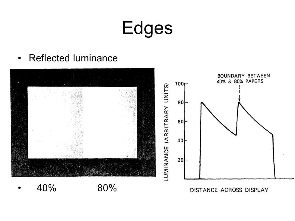 Edges Reflected luminance 40% 80%