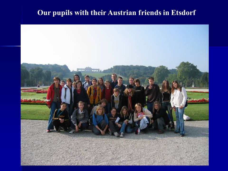 Our pupils with their Austrian friends in Etsdorf