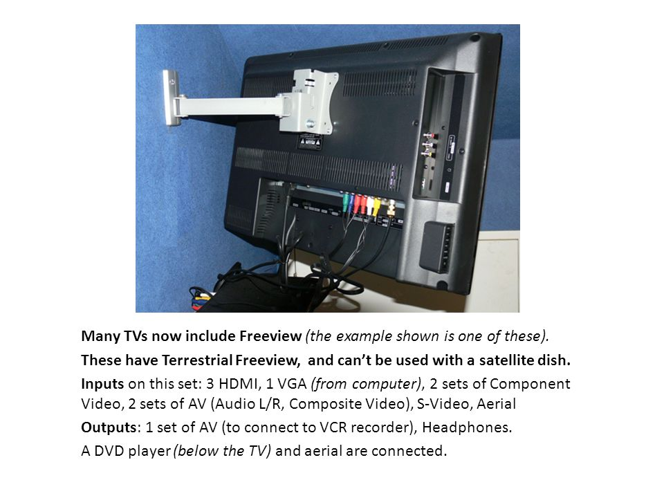Many TVs now include Freeview (the example shown is one of these).