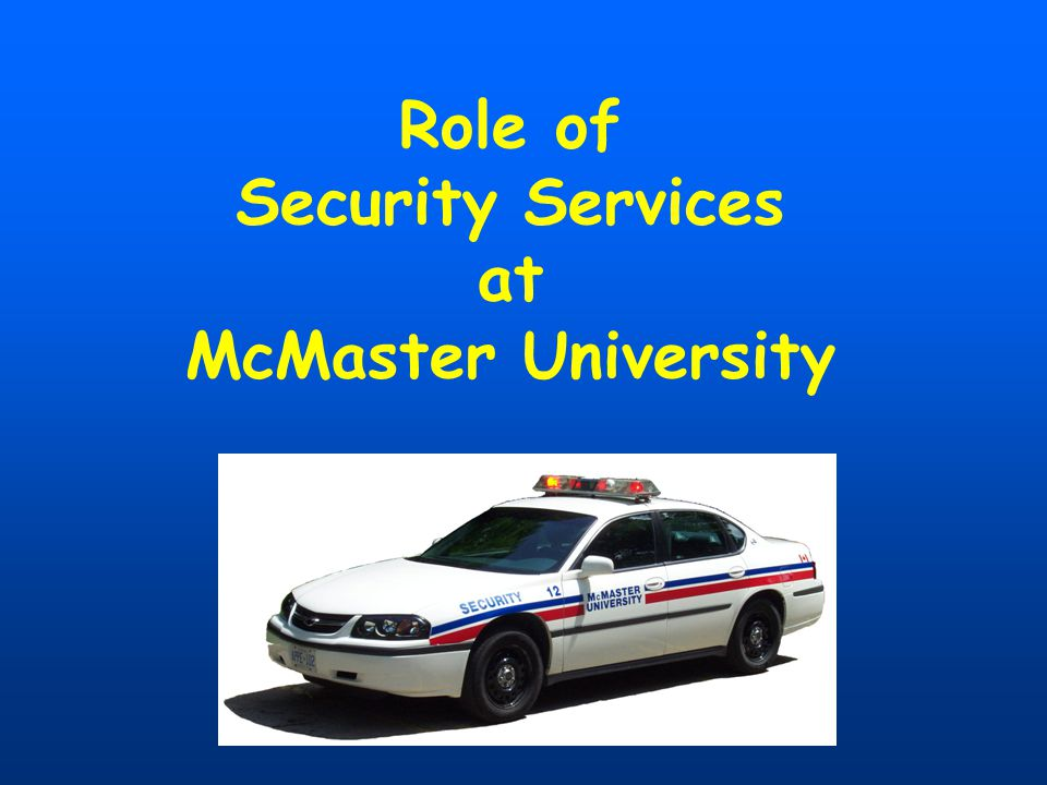 How Does Security Patrol the Campus? 24 hours a day, 365 days a year