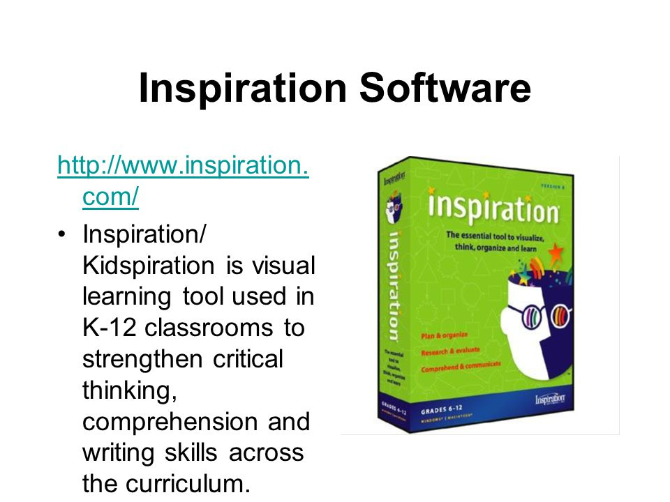 Inspiration Software http://www.inspiration.