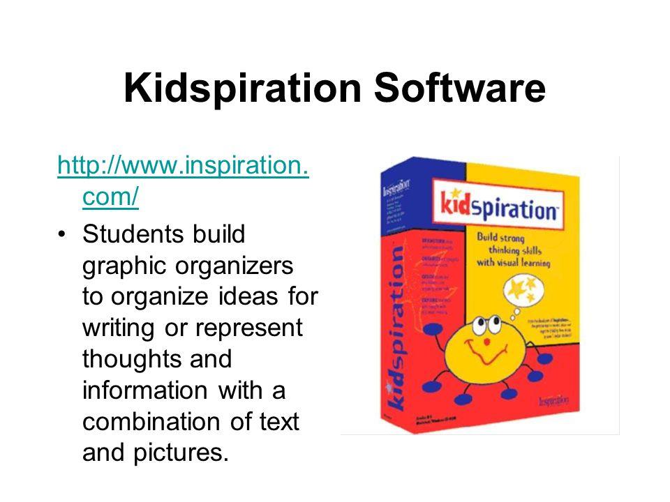 Kidspiration Software http://www.inspiration.