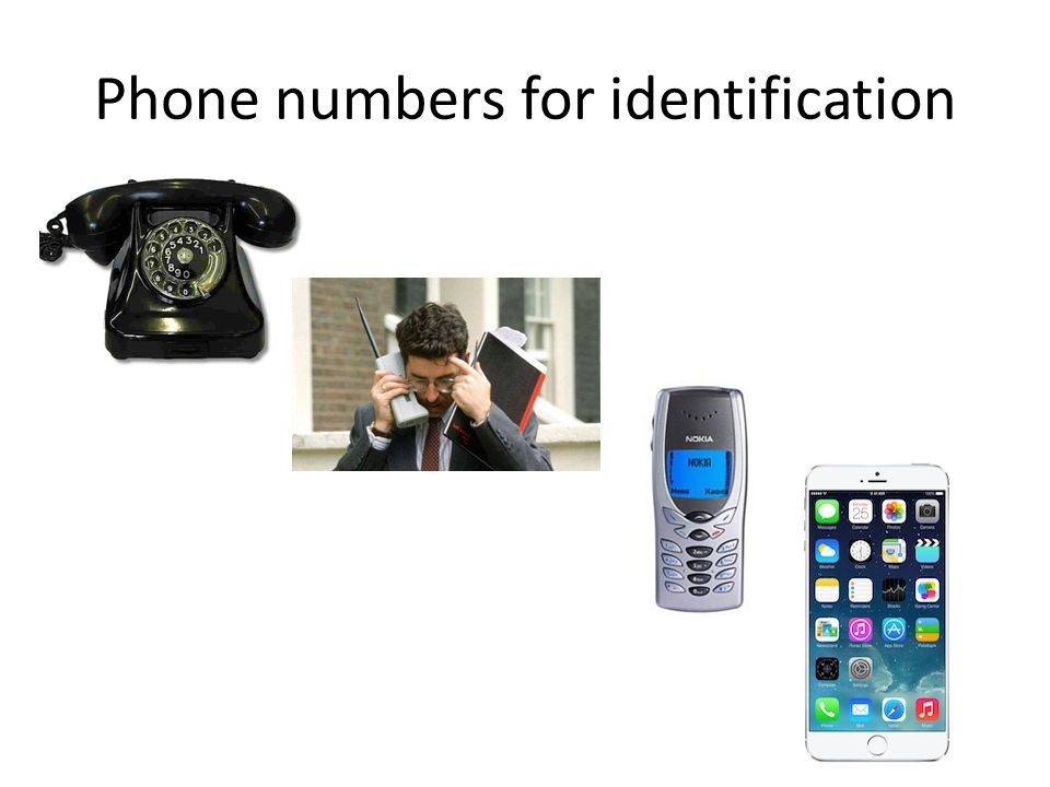 Phone numbers for identification
