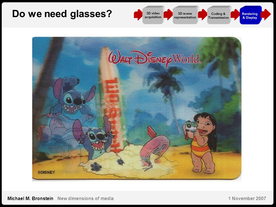32 Michael M. Bronstein New dimensions of media 1 November 2007 Do we need glasses?