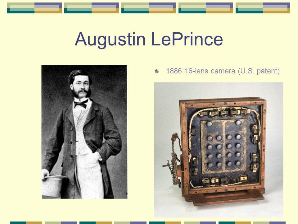 Augustin LePrince 1886 16-lens camera (U.S. patent)