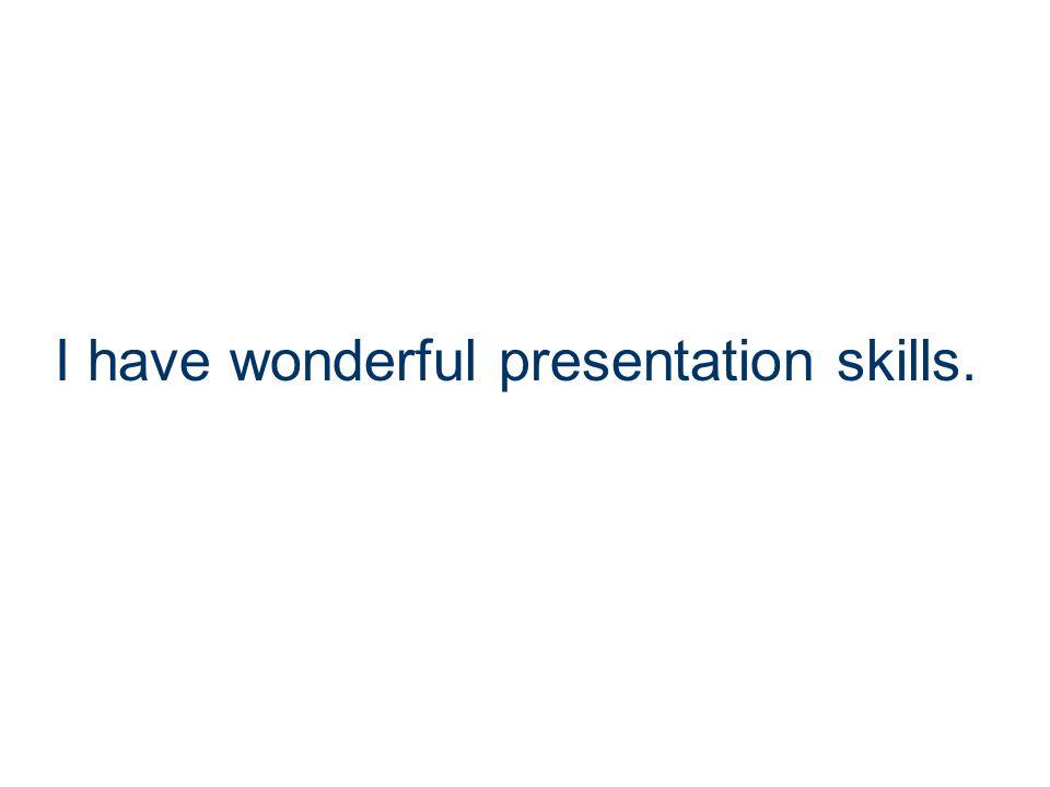 I enjoy public speaking opportunities.