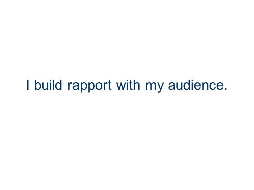I have wonderful presentation skills.