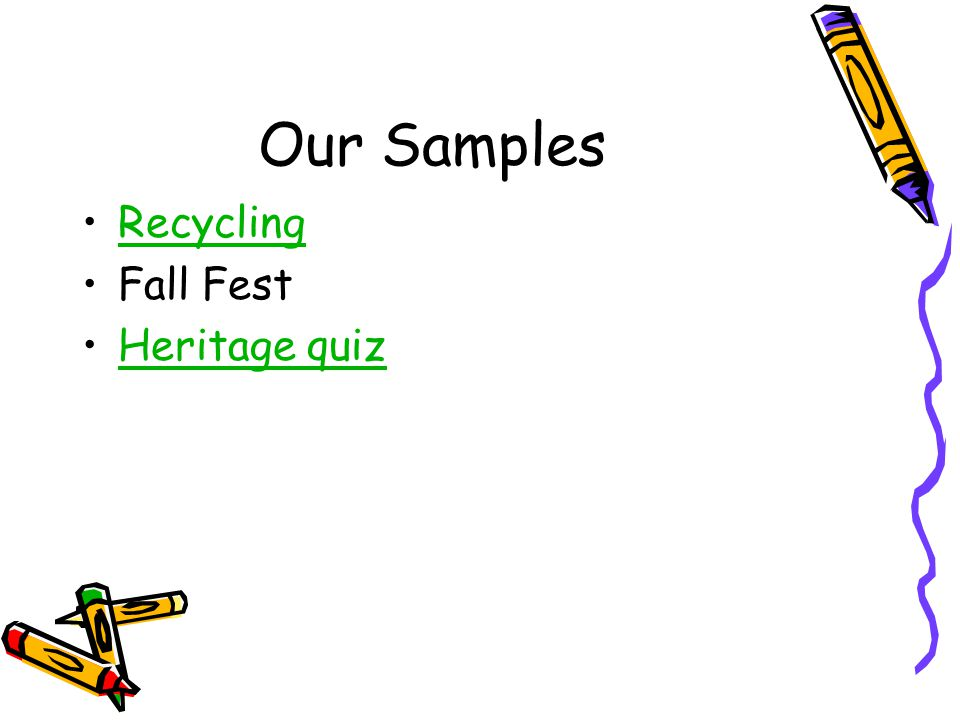 Our Samples Recycling Fall Fest Heritage quiz