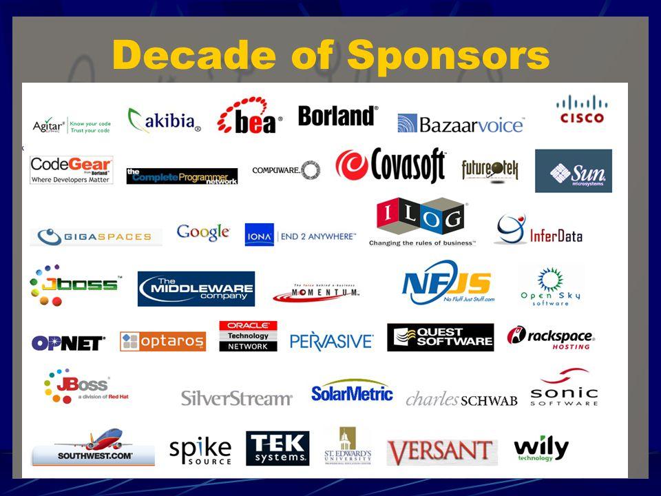 Decade of Sponsors