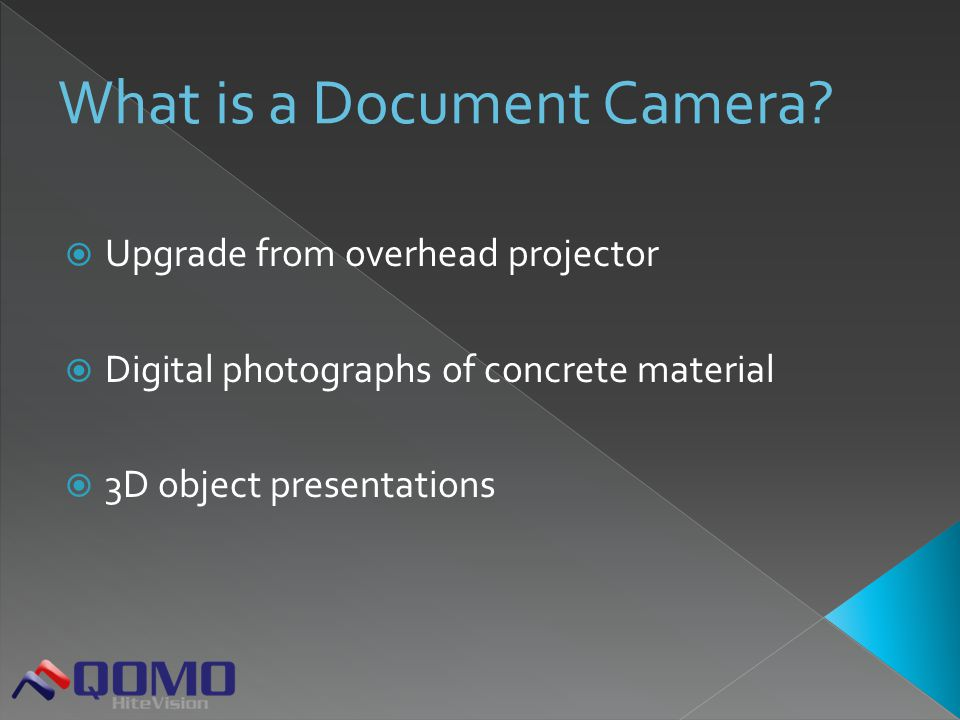  Upgrade from overhead projector  Digital photographs of concrete material  3D object presentations