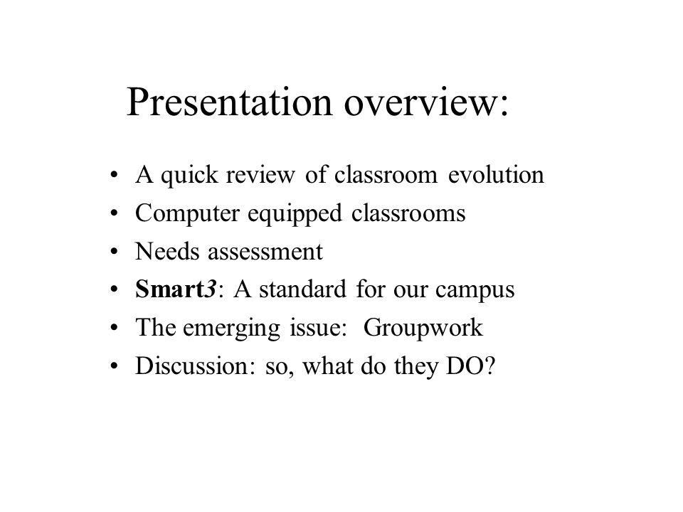 Our common classroom heritage (a really superficial view):