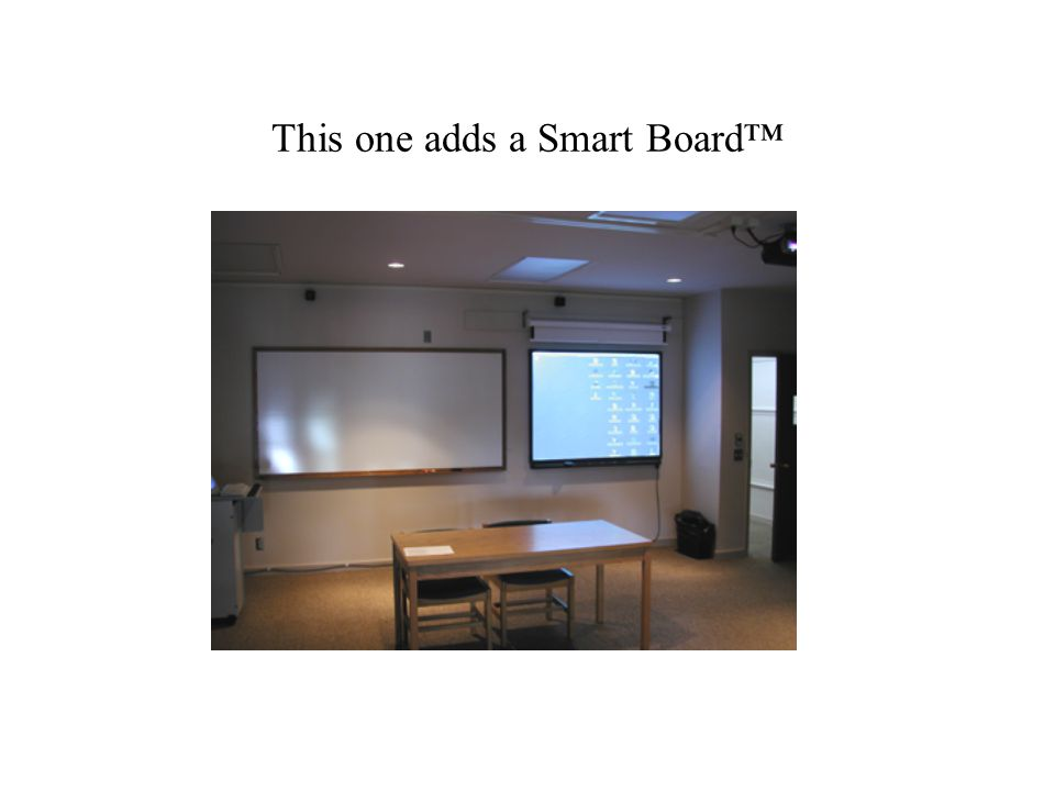 A 'studio' format classroom.We first observed these at MIT and Middlebury.