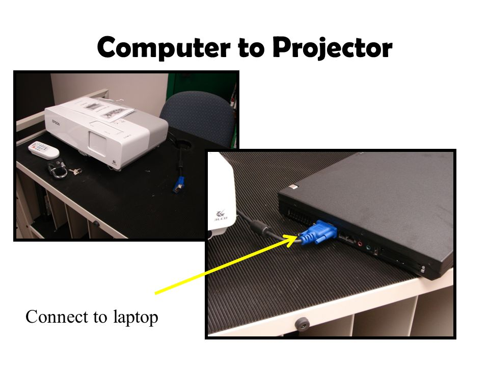 Computer to Projector Connect to laptop
