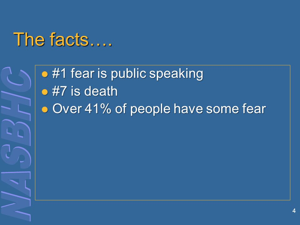 4 The facts….