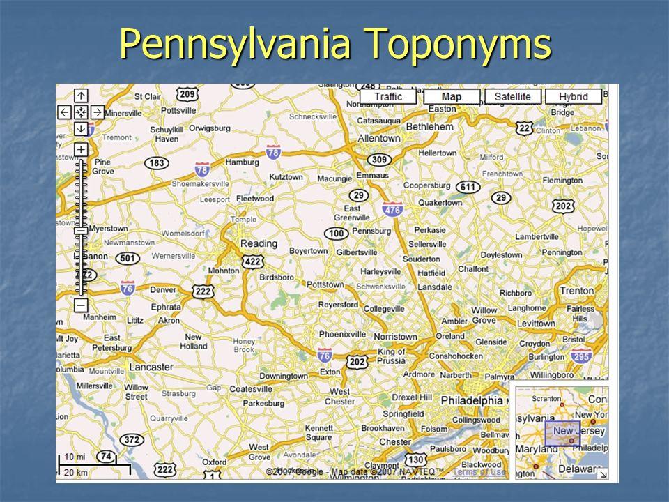 Pennsylvania Toponyms