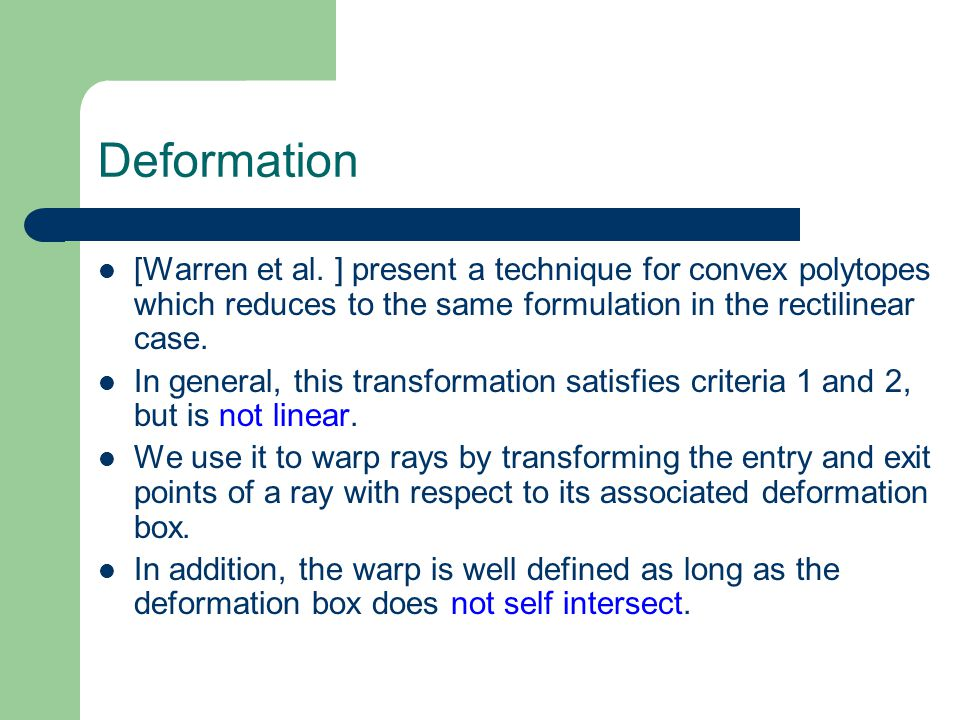 Deformation [Warren et al.