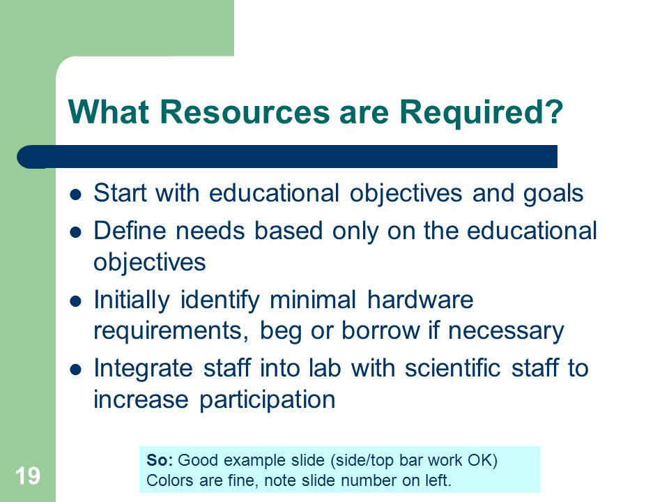 19 What Resources are Required.