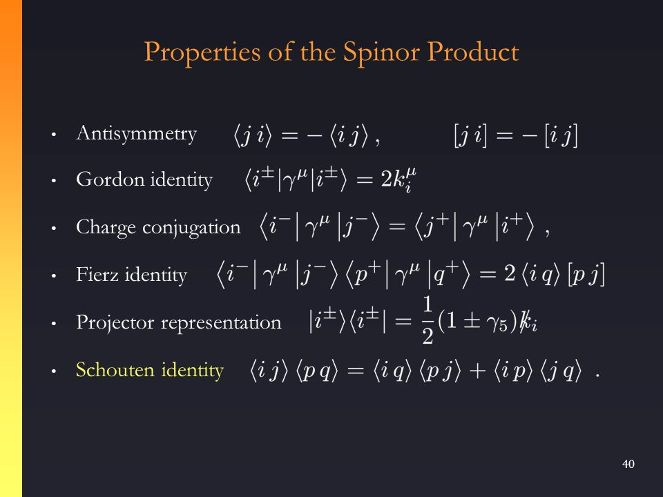 39 Introduce four-component representation corresponding to  matrices in order to define spinor strings