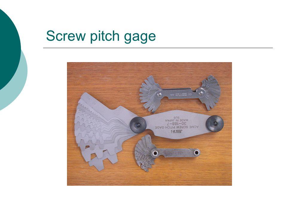 Screw pitch gage