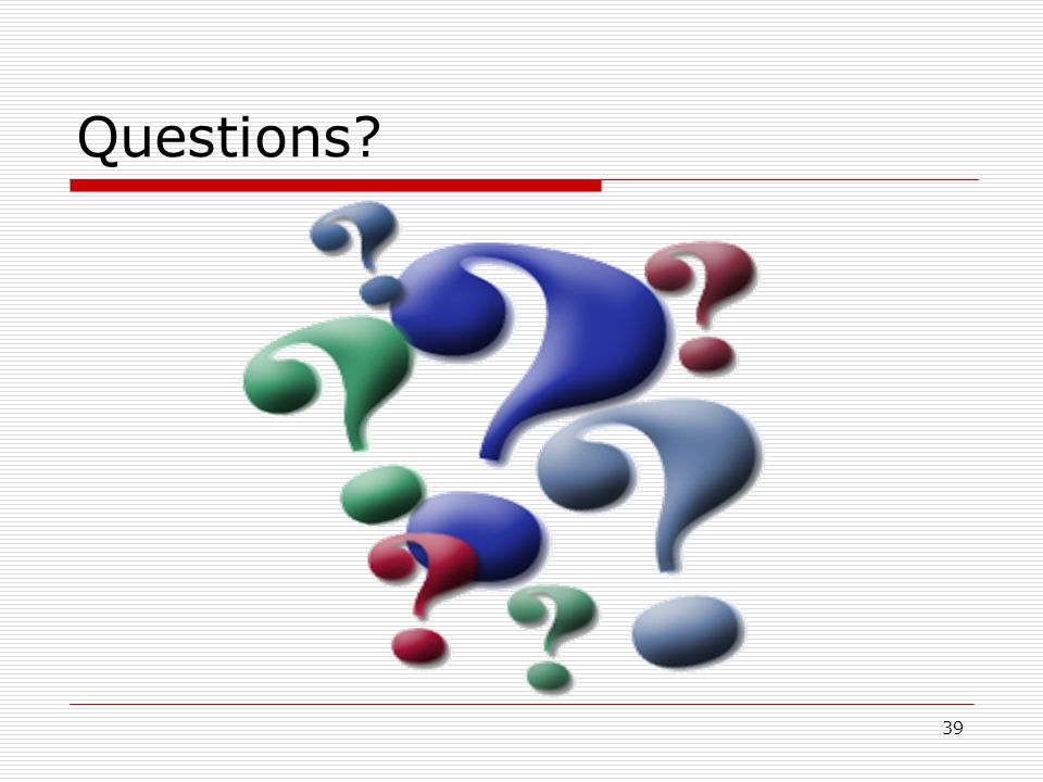 39 Questions