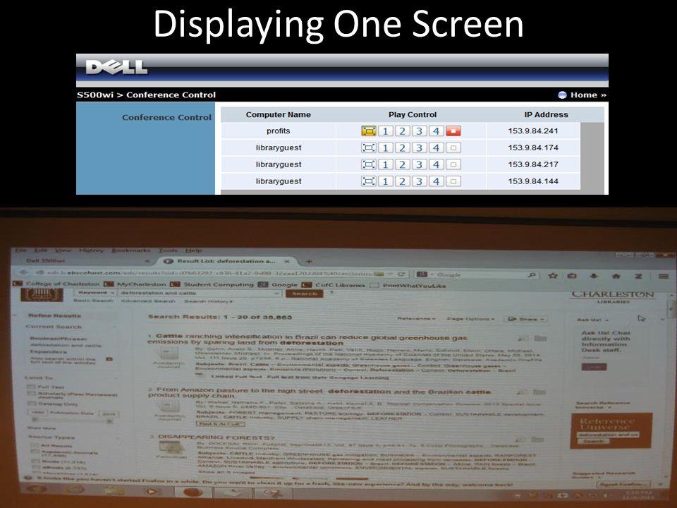 Displaying One Screen