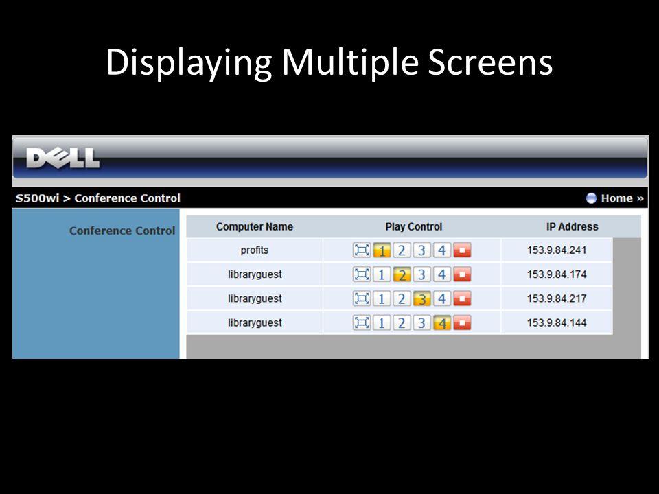 Displaying Multiple Screens