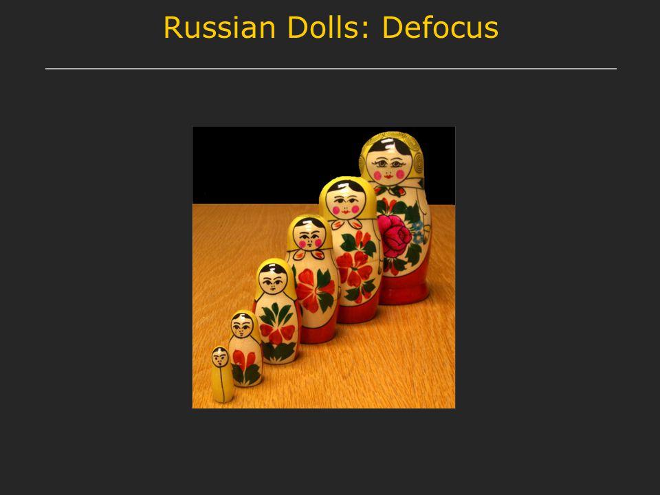 Russian Dolls: Defocus