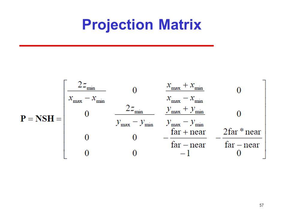 Projection Matrix 57
