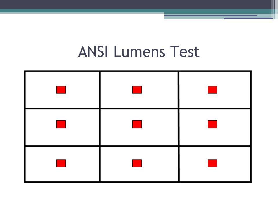 ANSI Lumens Test