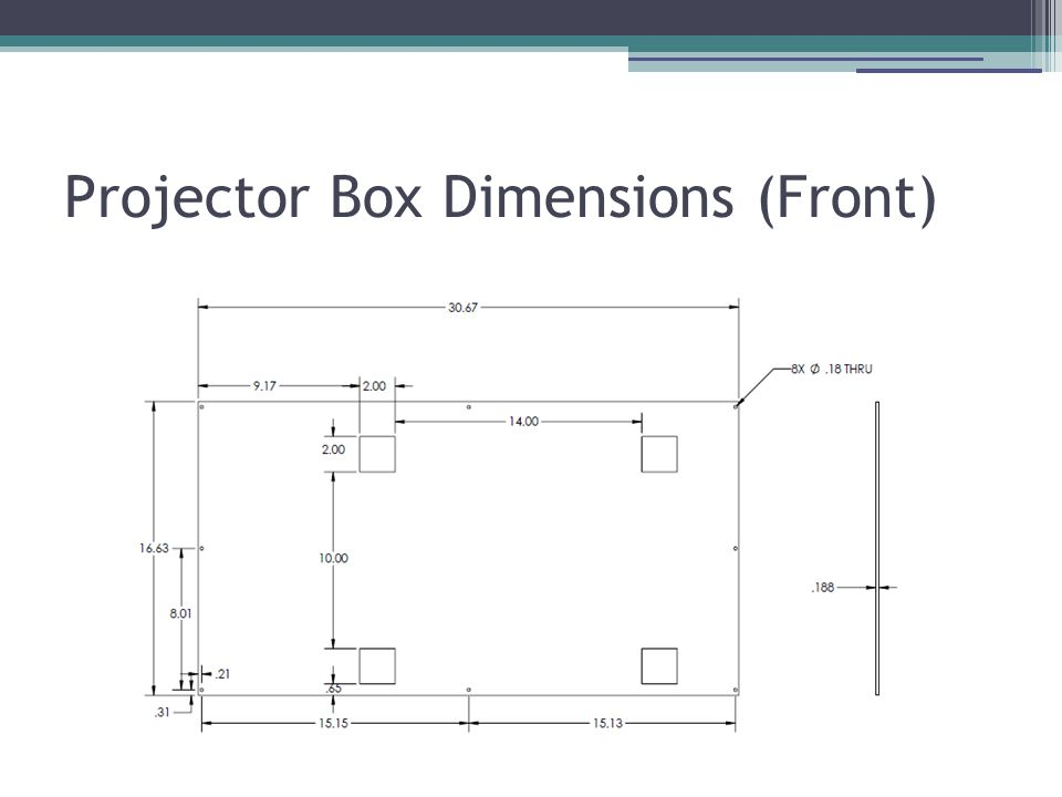 Projector Box Dimensions (Front)