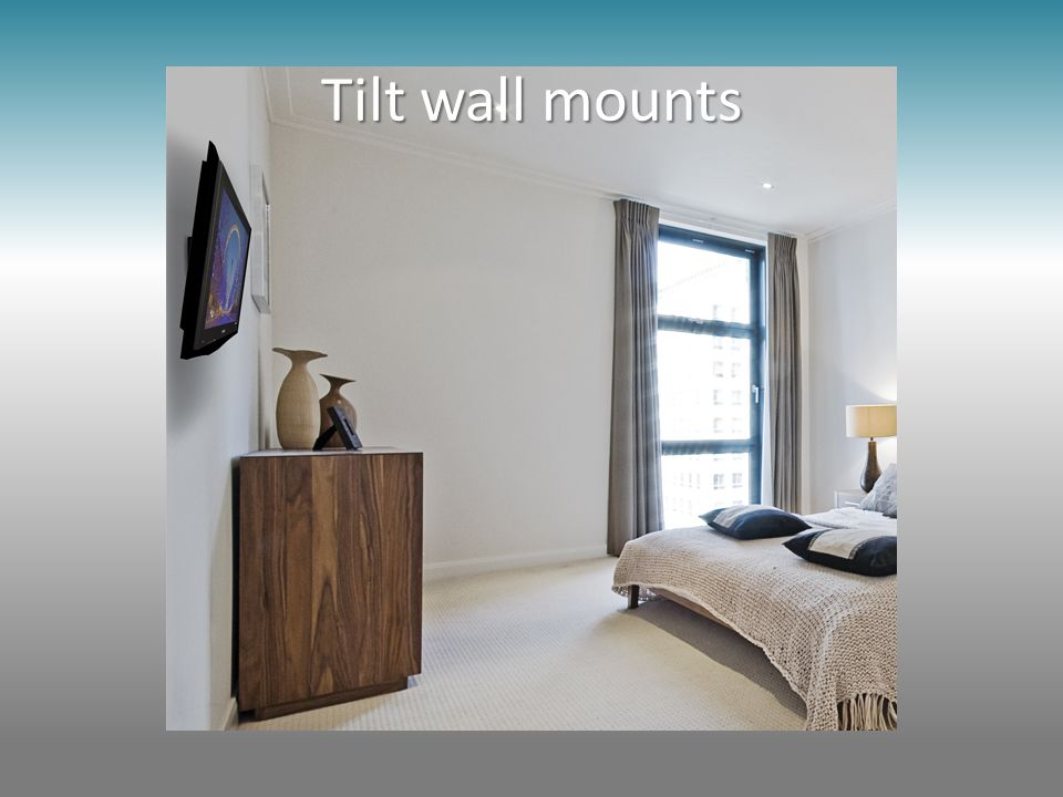 Tilt wall mounts