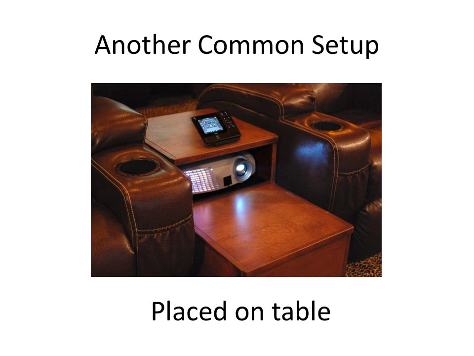 Another Common Setup Placed on table