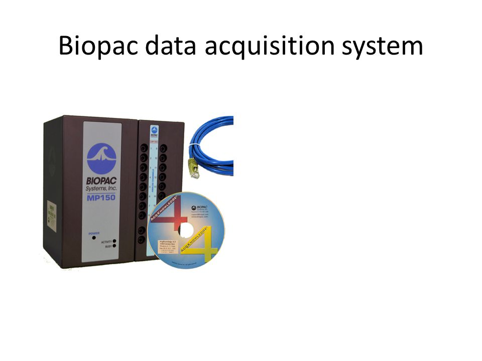 Biopac data acquisition system