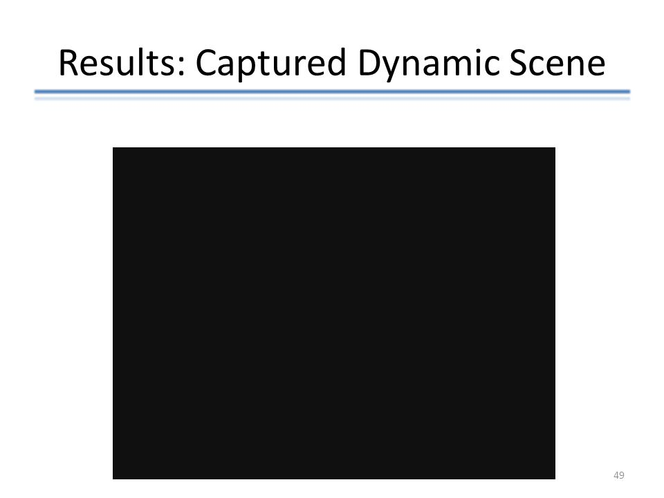 Results: Captured Dynamic Scene 49