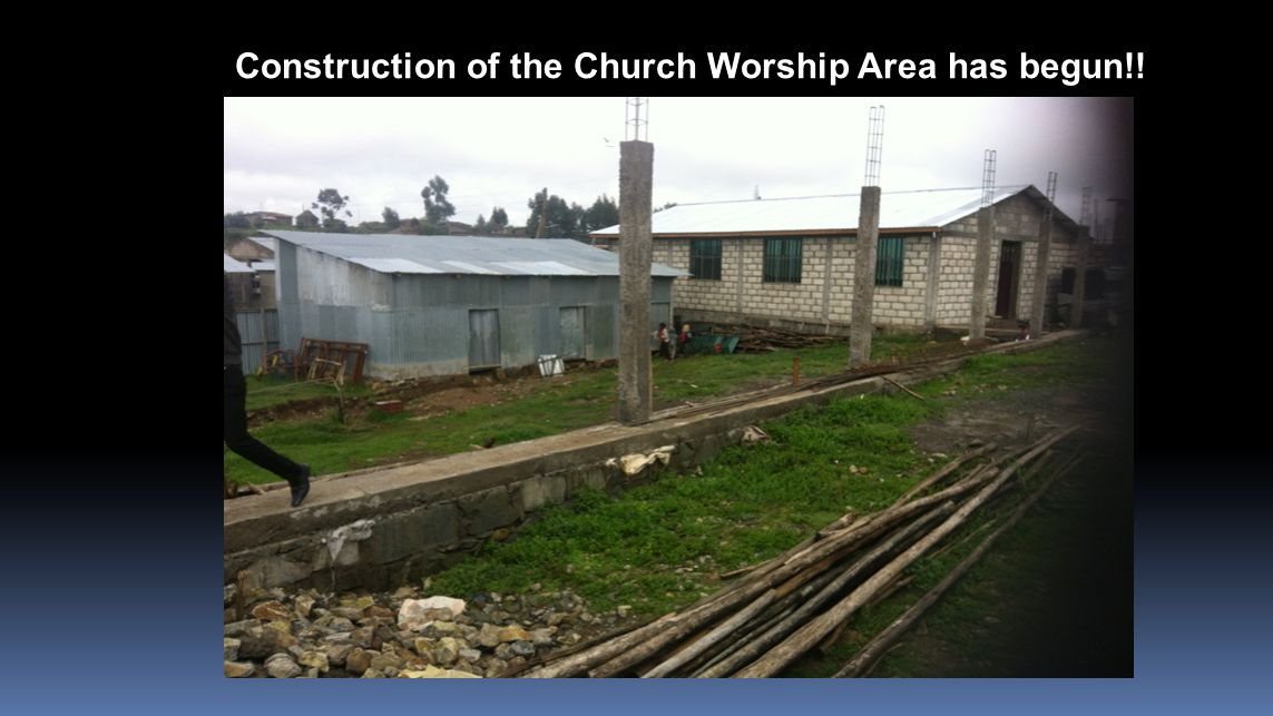 Construction of the Church Worship Area has begun!!