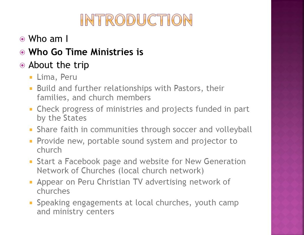  Nondenominational, Christian ministry  Mission  Message of Jesus  Love through helping others  Available for YOU.