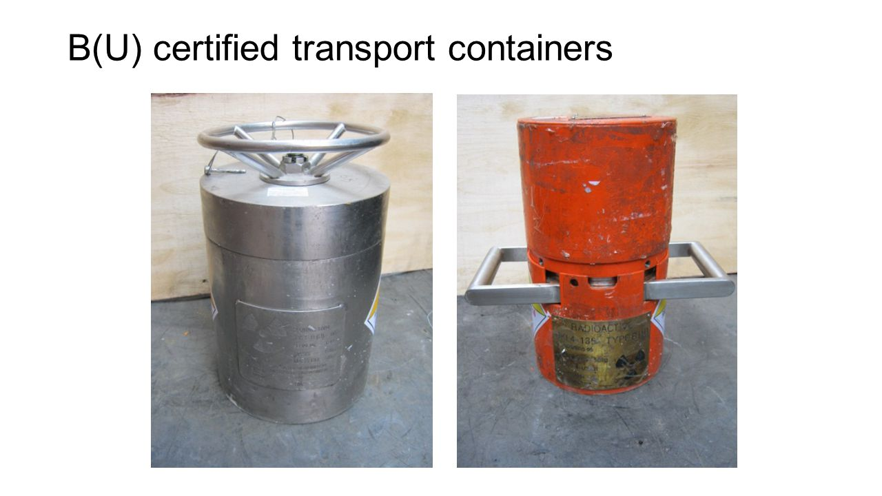 B(U) certified transport containers