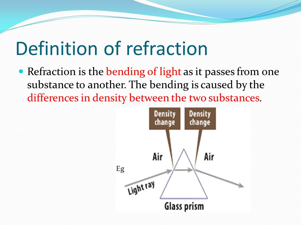 Uses of refraction Camera Microscope Magnifying glass overhead projector Telescope …………