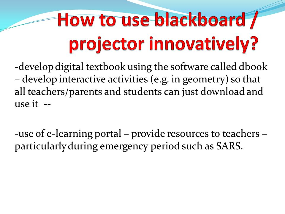 -develop digital textbook using the software called dbook – develop interactive activities (e.g.