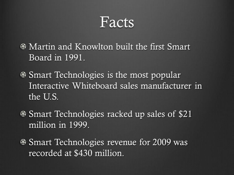 Worldwide Influence In 2004 the British government decided to spend $90 million on interactive whiteboards for grade school classrooms.