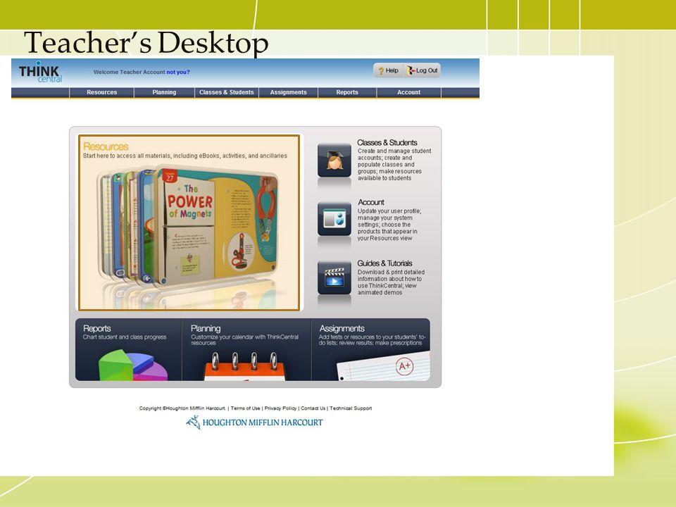 Teacher's Desktop
