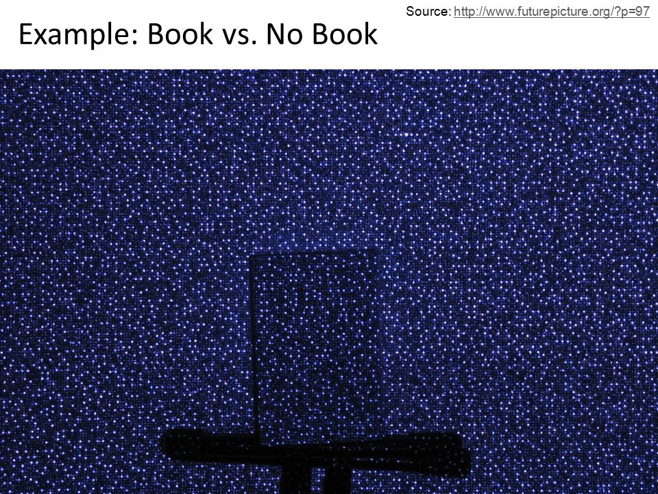 Example: Book vs. No Book Source: http://www.futurepicture.org/?p=97http://www.futurepicture.org/?p=97