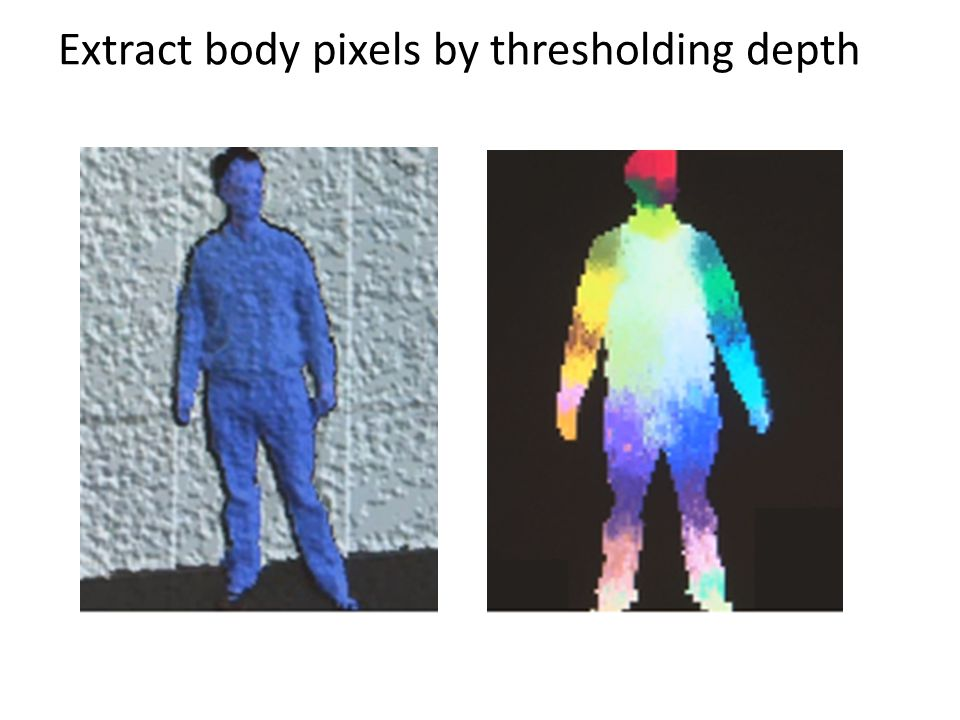 Extract body pixels by thresholding depth