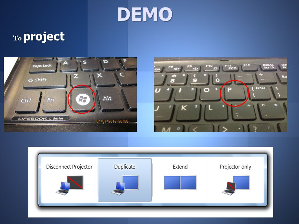 To project DEMO