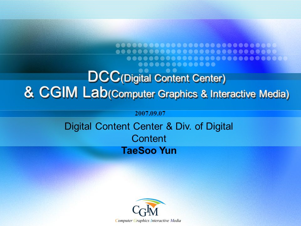 Digital Content Center & Div.