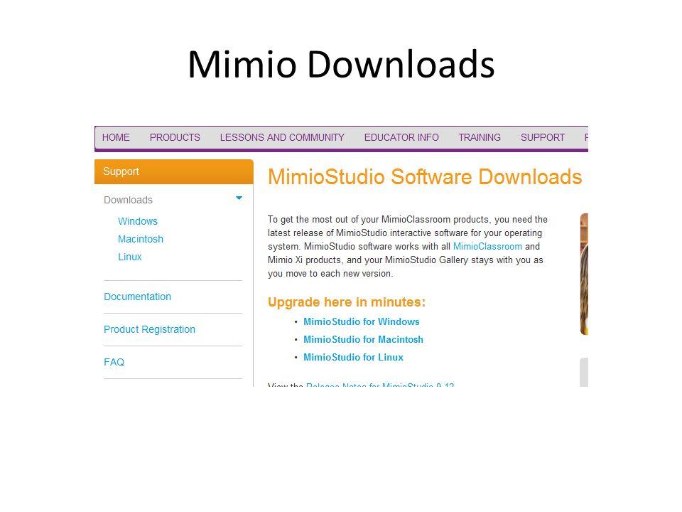 Mimio Downloads