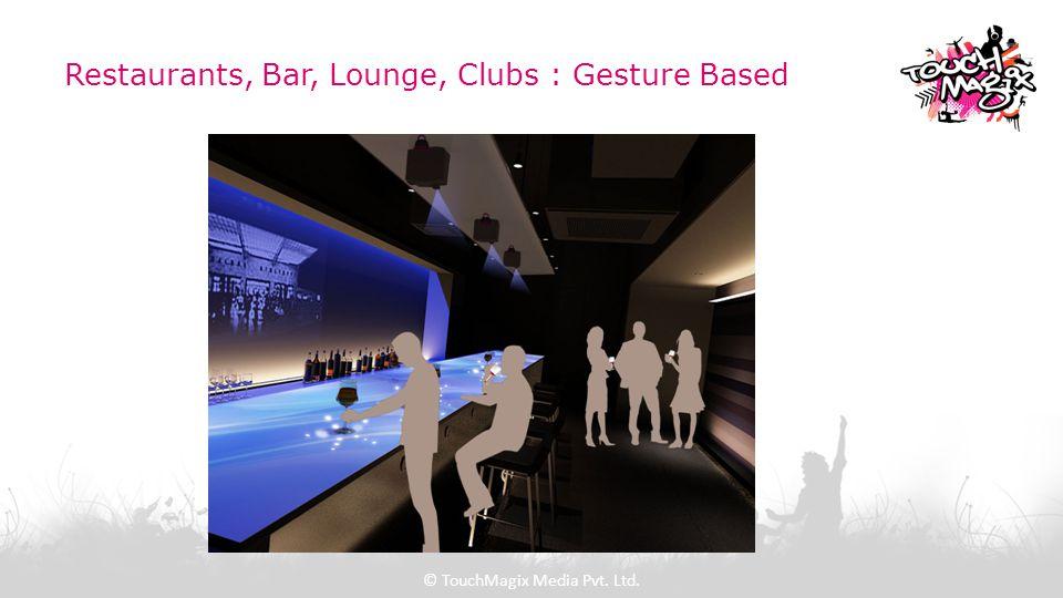 Restaurants, Bar, Lounge, Clubs : Gesture Based © TouchMagix Media Pvt. Ltd.