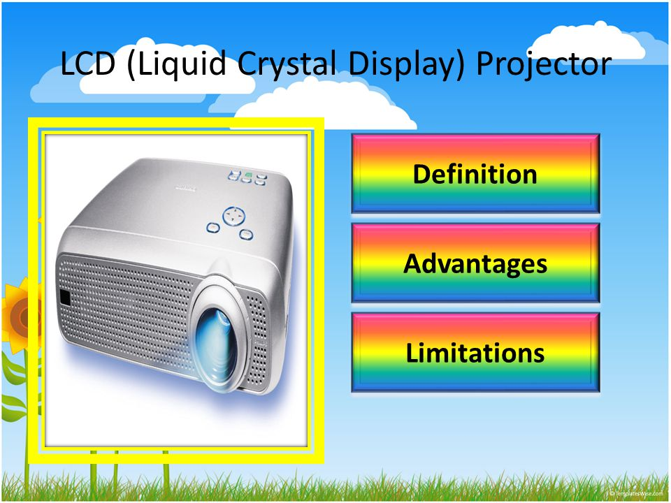 LCD (Liquid Crystal Display) Projector Definition Advantages Limitations