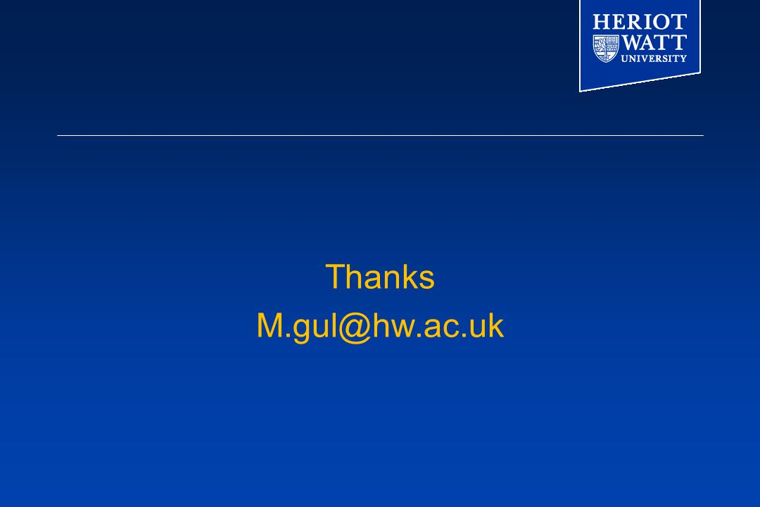 Thanks M.gul@hw.ac.uk