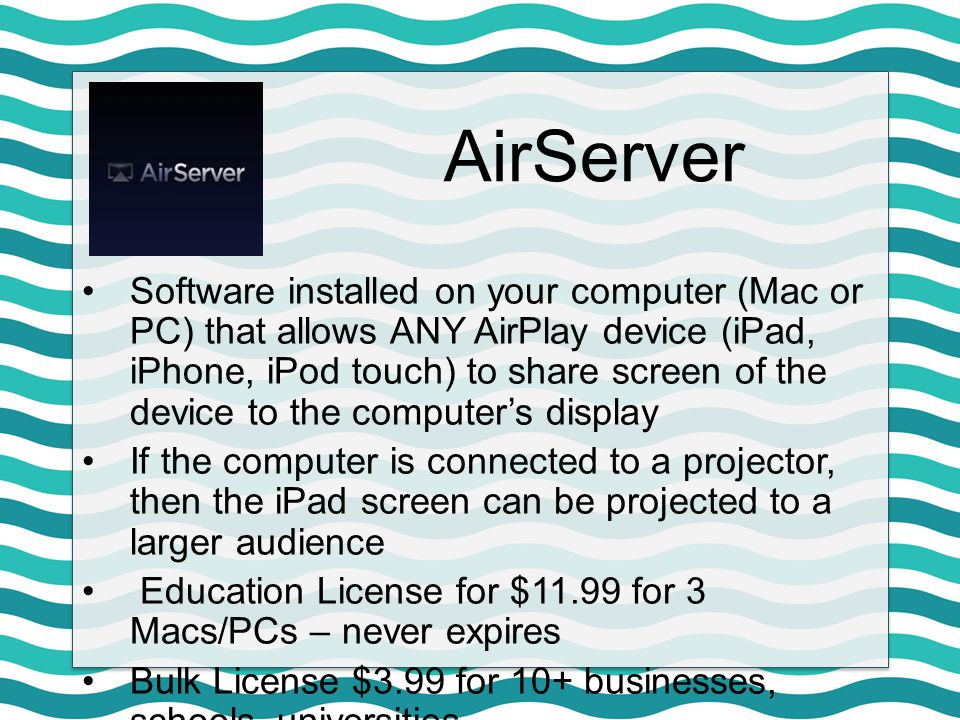 AirServer Tip: Rename your computer in the Software's Preferences from the numbers to your name and/or classroom number to make it easier to find